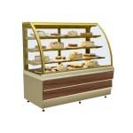Прилавок холодильный кондитерский  ES SYSTEM K CARINA 02 1,4 орех тоскана,золото