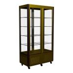 Шкаф кондитерский Полюс R800C Сarboma Люкс (шоколадно-золотистый)