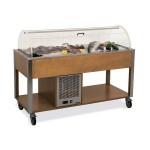 """Стол для выкладки """"рыбы на льду"""" MetalCarrelli 6930.4W (венге)"""