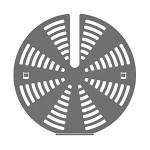 Комплект SMEG 3925 для уменьшения скорости воздушного потока вентилятора (2 шт.)