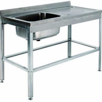 Ванна моечная с рабочей поверхностью ВСМЦ-1/1200 с прав. столом