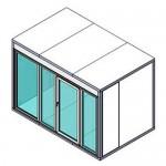 КХН-7,71 Ст (стекл. блок с одностворчатой дверью по сторо 2260)