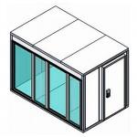КХН-11,75 Ст (стекл. блок по стор2560, дверь унив.по смежн стор)