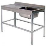 Ванна моечная односекционная ВСМЦ 1/1200 с левым столом