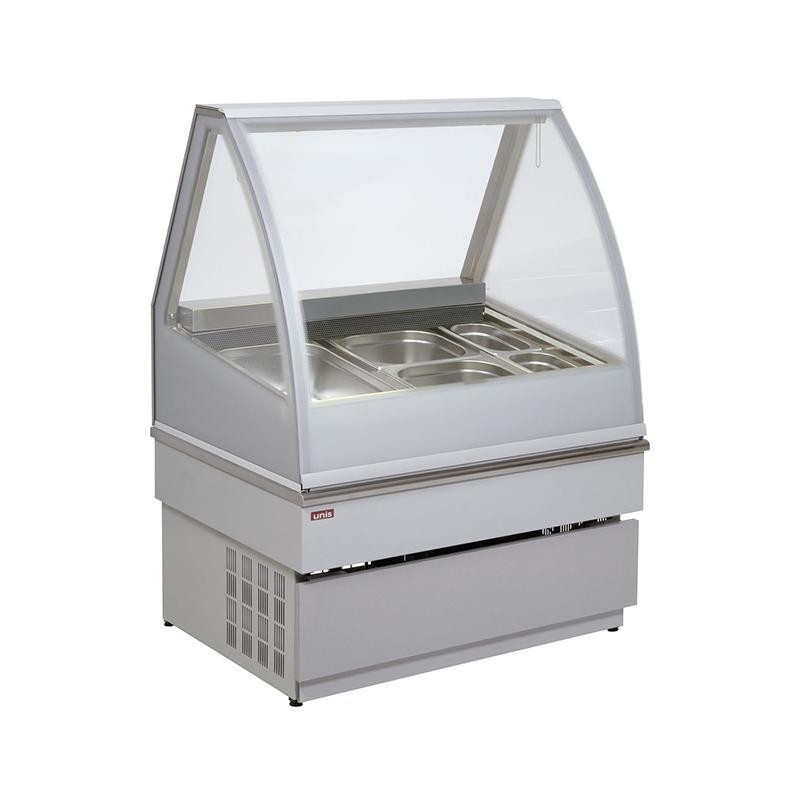 Витрина для мороженого Unis Georgia III 1000 inox